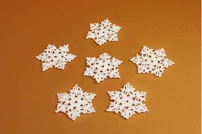 Vianočná ozdoba, háčkovaná hviezda.