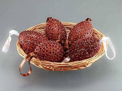 Kraslice husacie vŕtané, madeira, handmade.